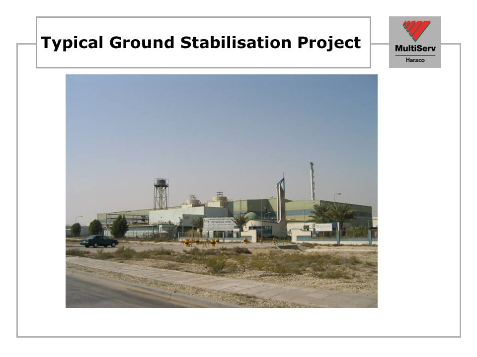 Typical Ground Stabilisation Project