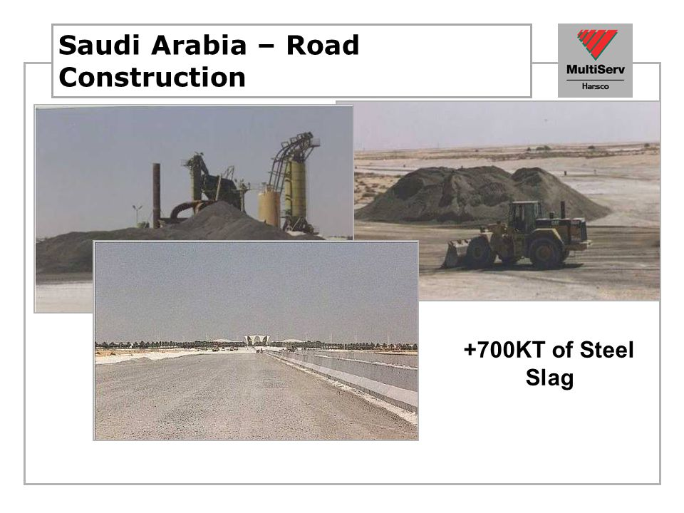 Saudi Arabia – Road Construction +700KT of Steel Slag