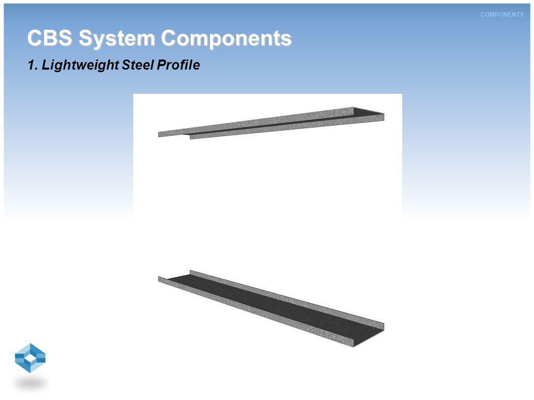 COMPONENTS CBS System Components CBS System Components 1. Lightweight Steel Profile