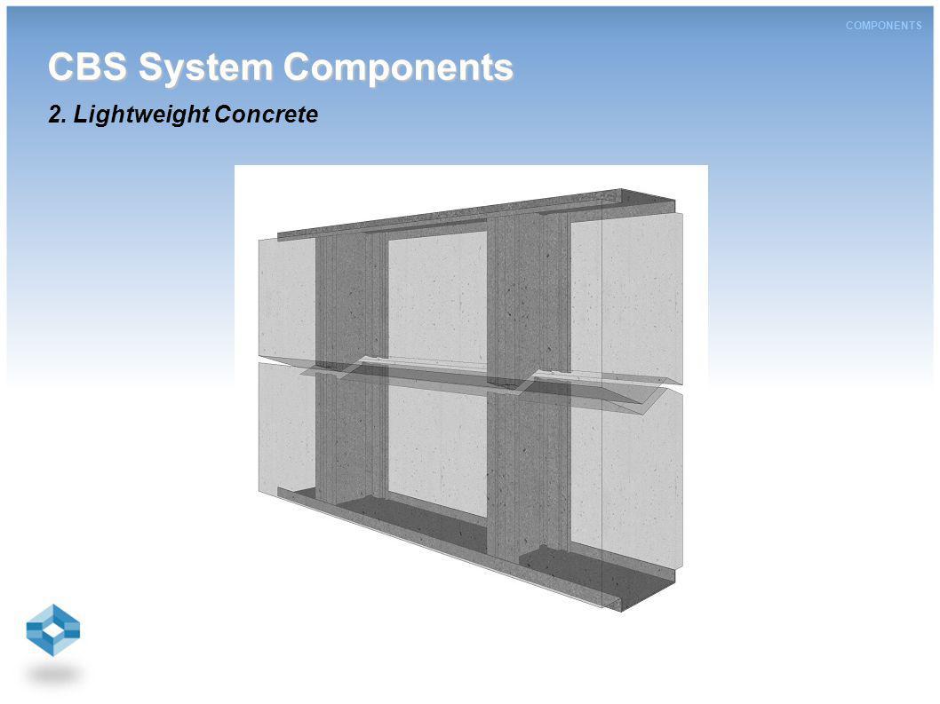COMPONENTS CBS System Components CBS System Components 2. Lightweight Concrete