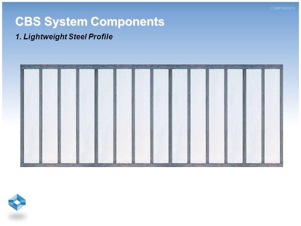 CBS System Components CBS System Components 1. Lightweight Steel Profile