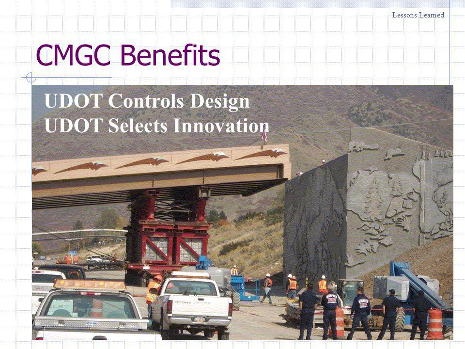 Utah CMGC Projects (Federal) Where are we going?