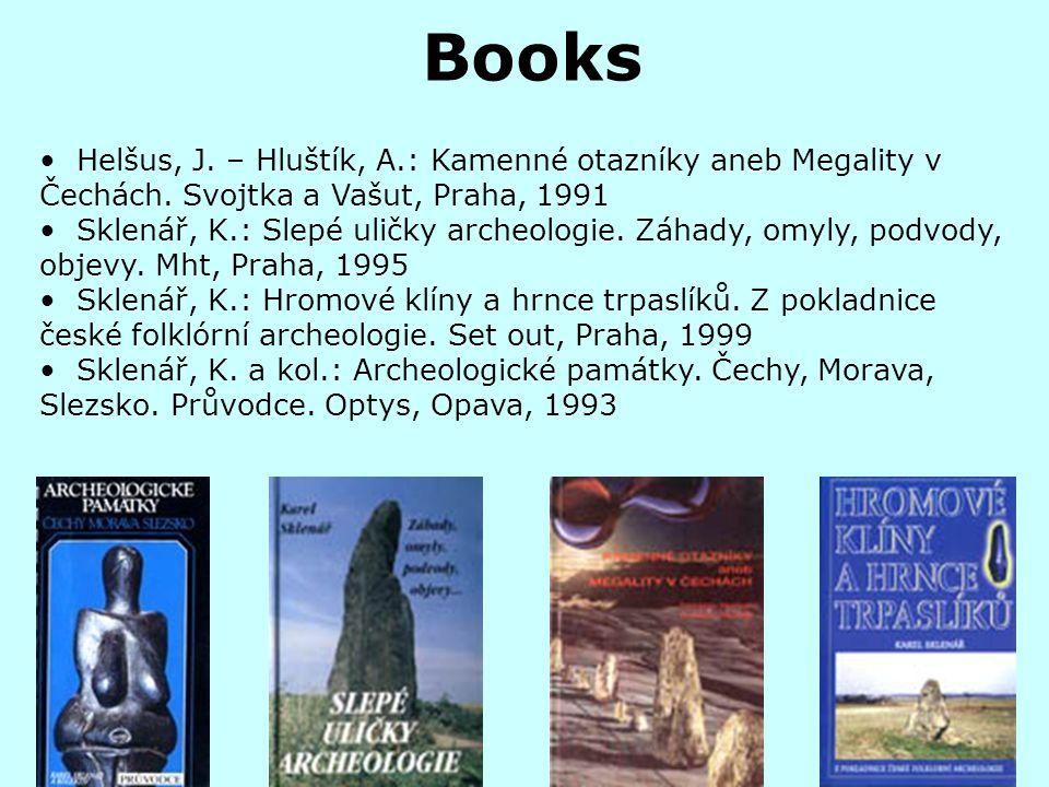 Books Helšus, J.– Hluštík, A.: Kamenné otazníky aneb Megality v Čechách.