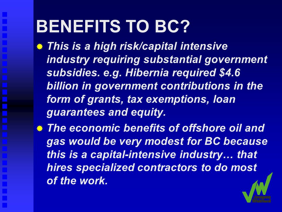 BENEFITS TO BC.