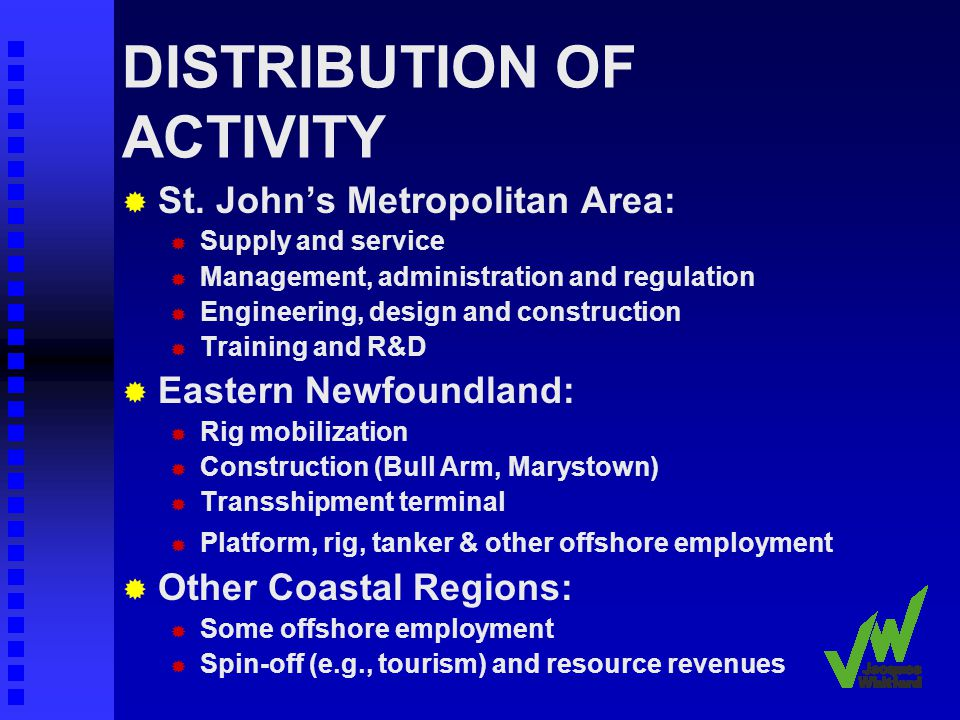 DISTRIBUTION OF ACTIVITY St.
