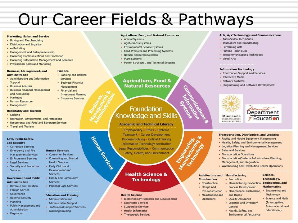 Our Career Fields & Pathways