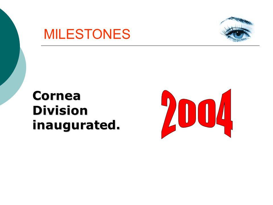 MILESTONES CorneaDivisioninaugurated.