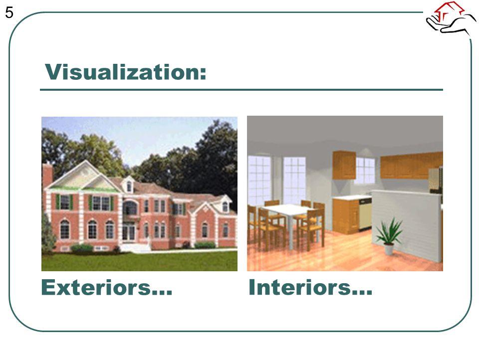 Visualization: Interiors… Exteriors… 5