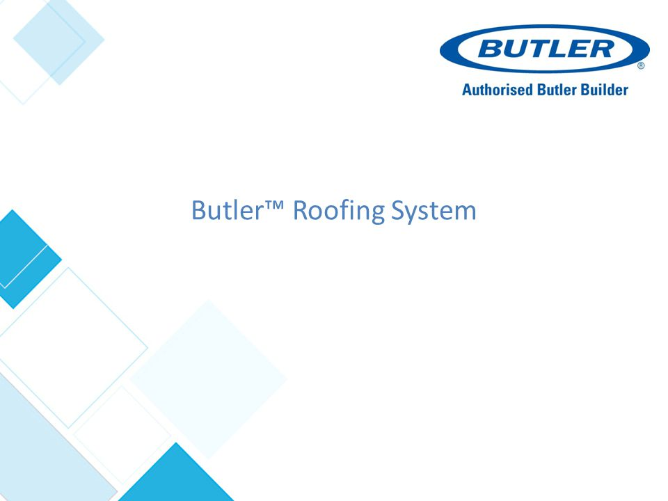Butler Roofing System