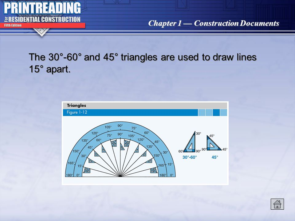 Chapter 1 Construction Documents Conventional drafting tools include T squares, triangles, scales, and pencils. Drafting instruments, such as dividers