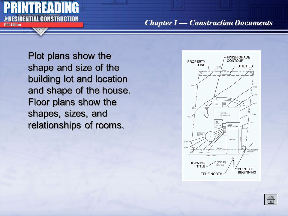 Chapter 1 Construction Documents Construction professionals, such as architects and contractors, utilize working drawings and specifications to coordi