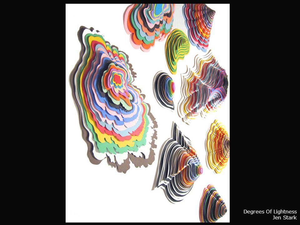 Jen Stark Workimage _ escultura em papel Ligar o somavançar com clic