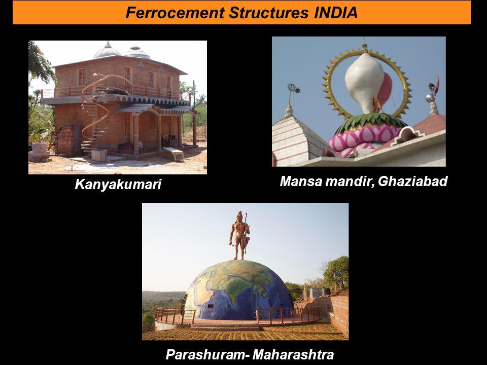 Kanyakumari Ferrocement Structures INDIA Parashuram- Maharashtra Mansa mandir, Ghaziabad