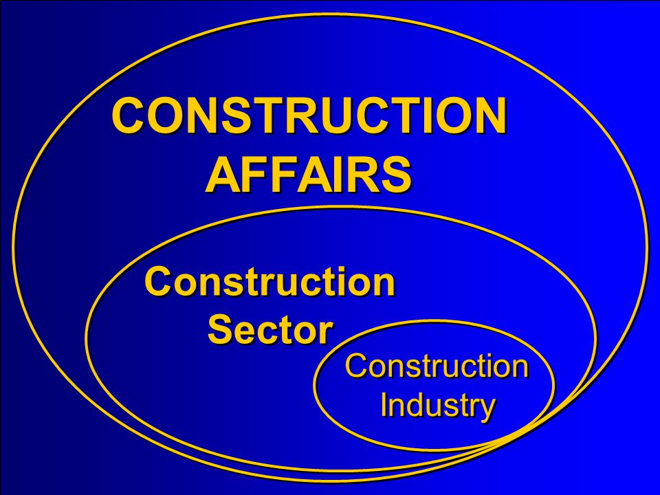 CONSTRUCTION AFFAIRS Construction Sector Construction Industry