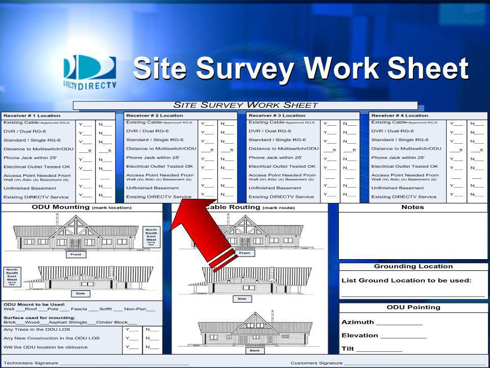 13 Site Survey Work Sheet
