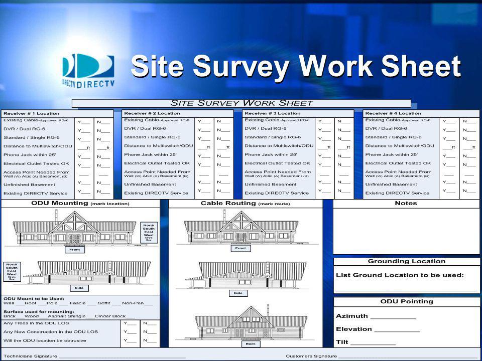 16 Site Survey Work Sheet