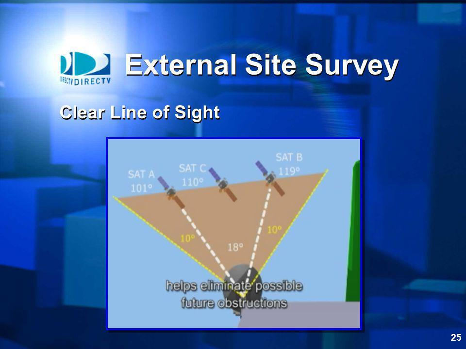 25 External Site Survey Clear Line of Sight