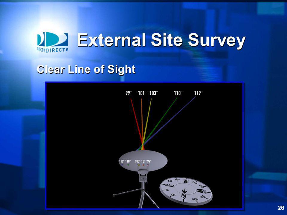 26 External Site Survey Clear Line of Sight