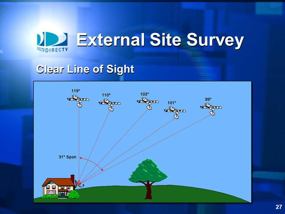 27 External Site Survey Clear Line of Sight