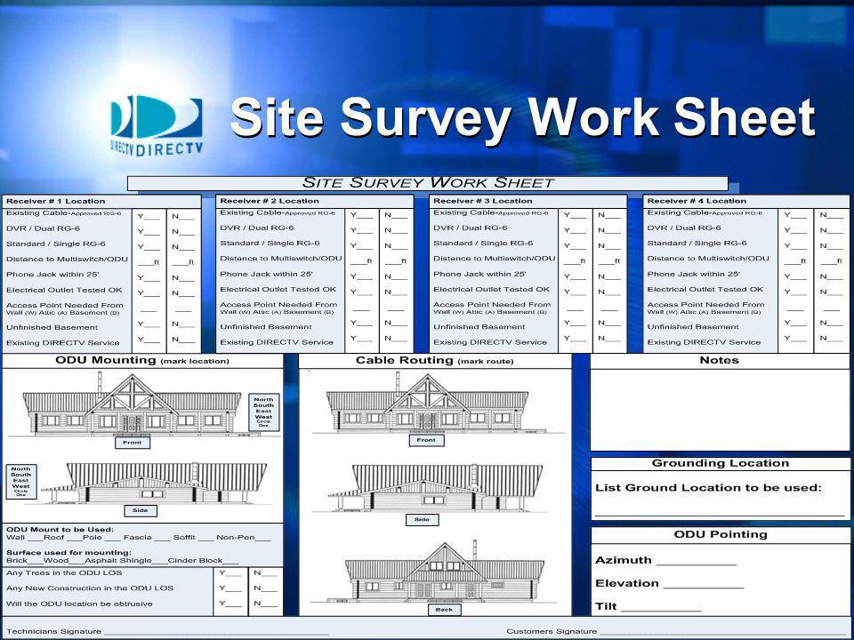 4 Site Survey Work Sheet