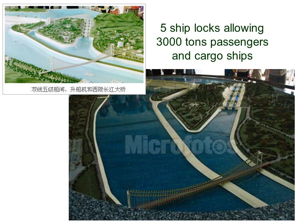 36 5 ship locks allowing 3000 tons passengers and cargo ships