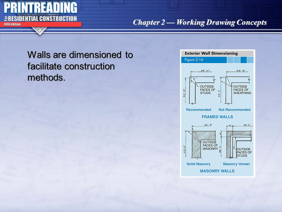 Chapter 2 Working Drawing Concepts Arrowheads, slashes, or dots may be used to terminate dimension lines.