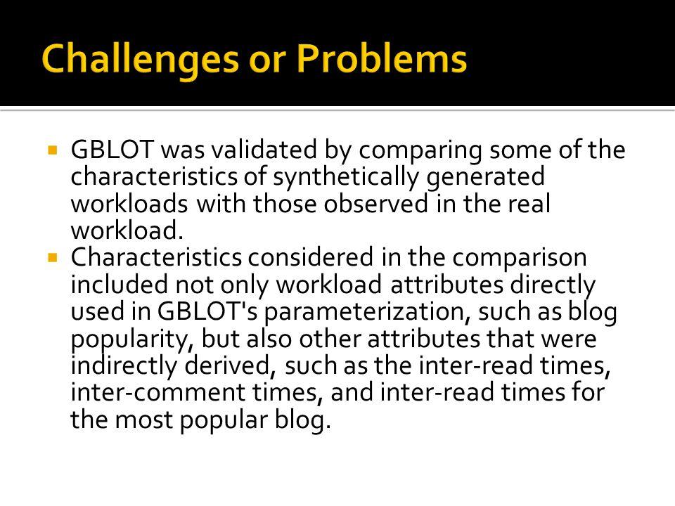 Sesiones(bgclient) Procesos que generan sesiones de un mismo tipo GBLOT Experimentos reales Traza Sintética CPU Disks Client Stations
