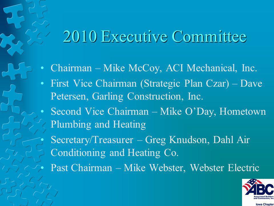 2010 Executive Committee Chairman – Mike McCoy, ACI Mechanical, Inc.