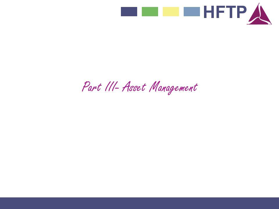 HFTP Part III- Asset Management