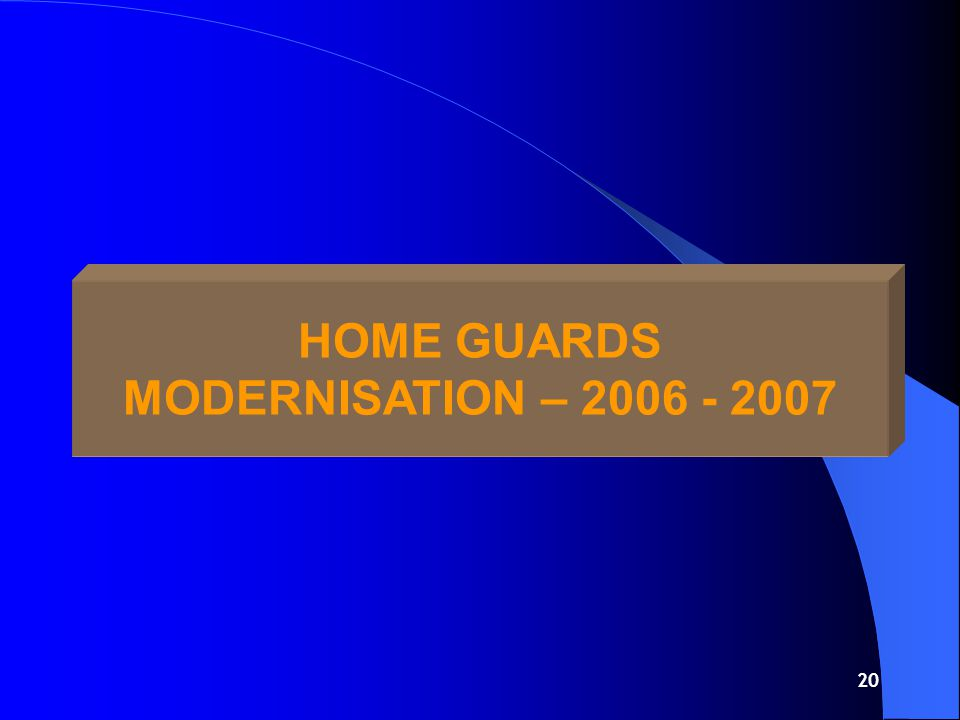 19 HOME GUARDS MODERNISATION – 2005 - 2006 SUMMARY Rs.