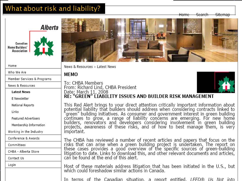 The University of Western Ontario Michael Buzzelli, Department of Geography 20 Michael Moldenhauer is President of Building Industry and Land Development Association (BILD) In Homes Magazine (GTA) What about risk and liability