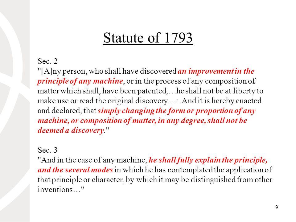 9 Statute of 1793 Sec.