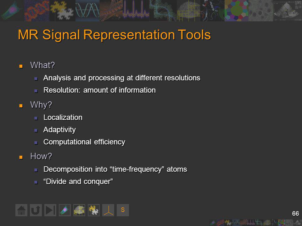 S 66 MR Signal Representation Tools What. What.