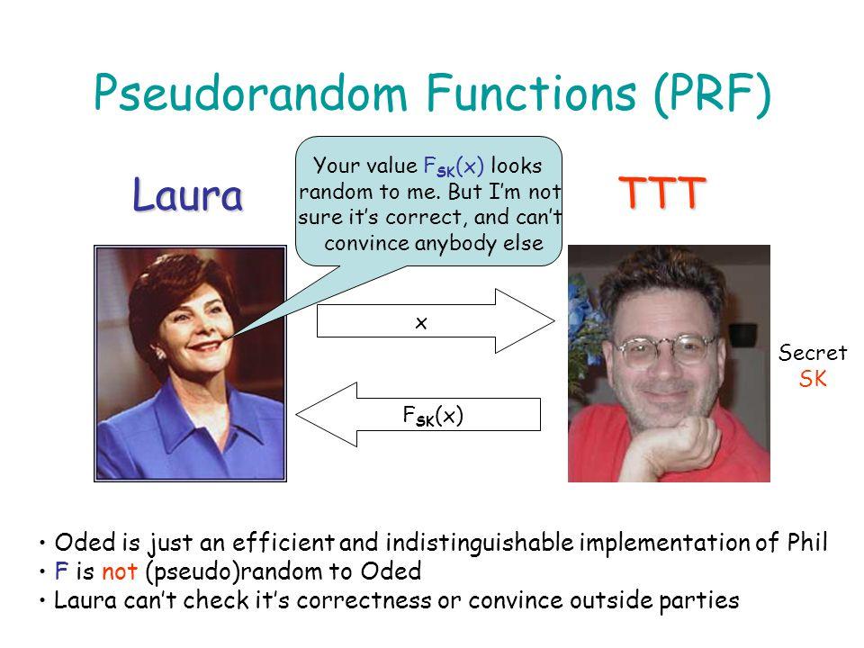 Alternatives Verifiable Random Functions (VRFs) [MRV99,Lys02,Dod03,DY05] Distributed PRFs (DPRFs) [MiSi95,NPR99,Nie02] Distributed VRFs (DVRFs) [Dod03