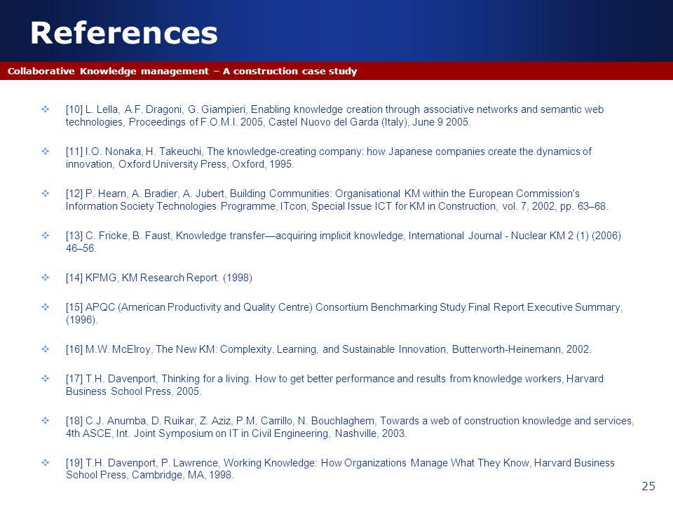 [10] L. Lella, A.F. Dragoni, G. Giampieri, Enabling knowledge creation through associative networks and semantic web technologies, Proceedings of F.O.