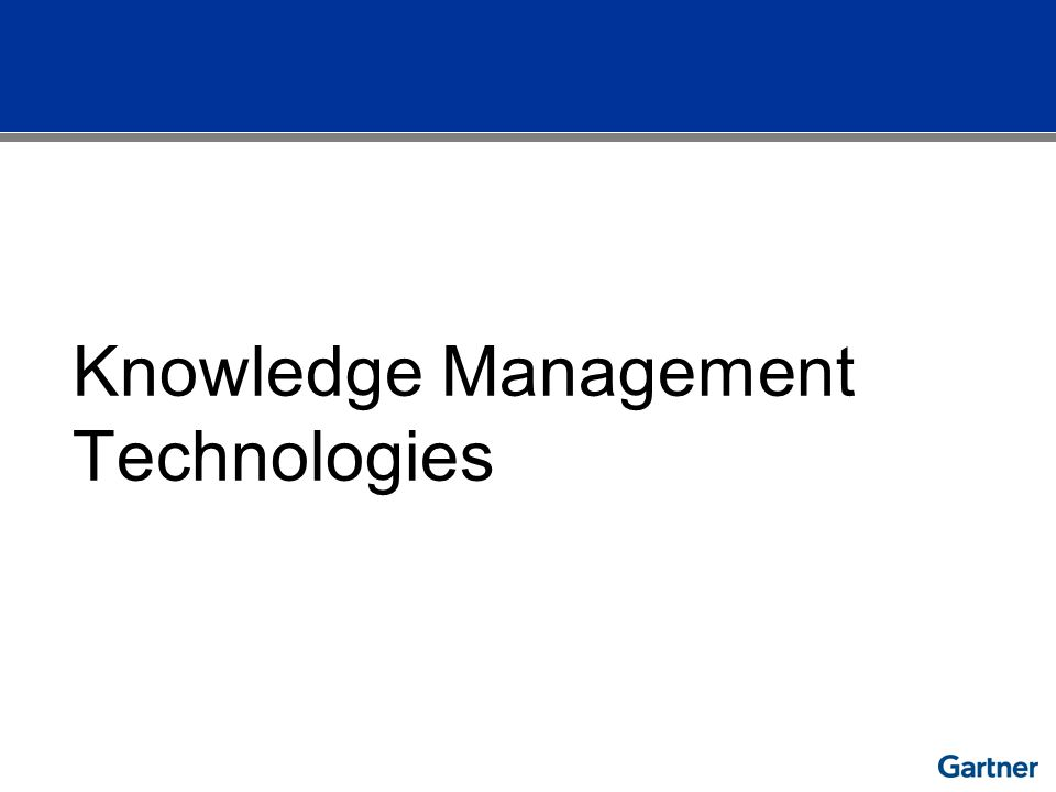 Knowledge Management Technologies