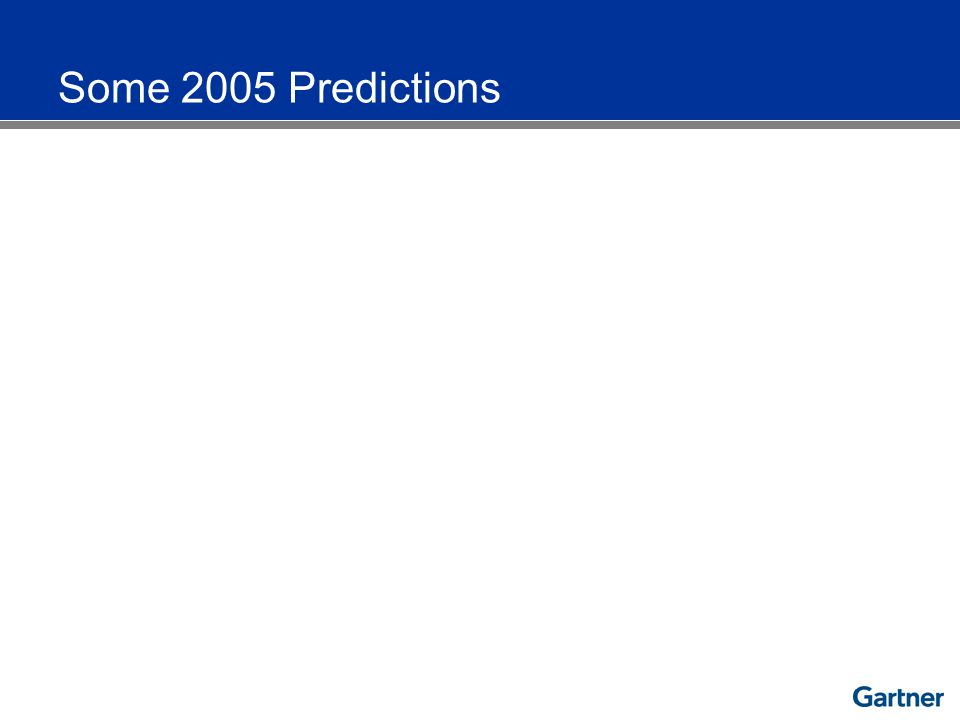 Some 2005 Predictions