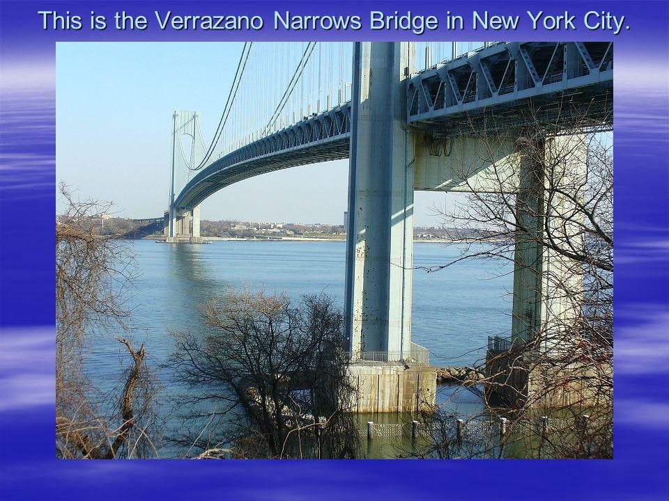 This is the Verrazano Narrows Bridge in New York City.