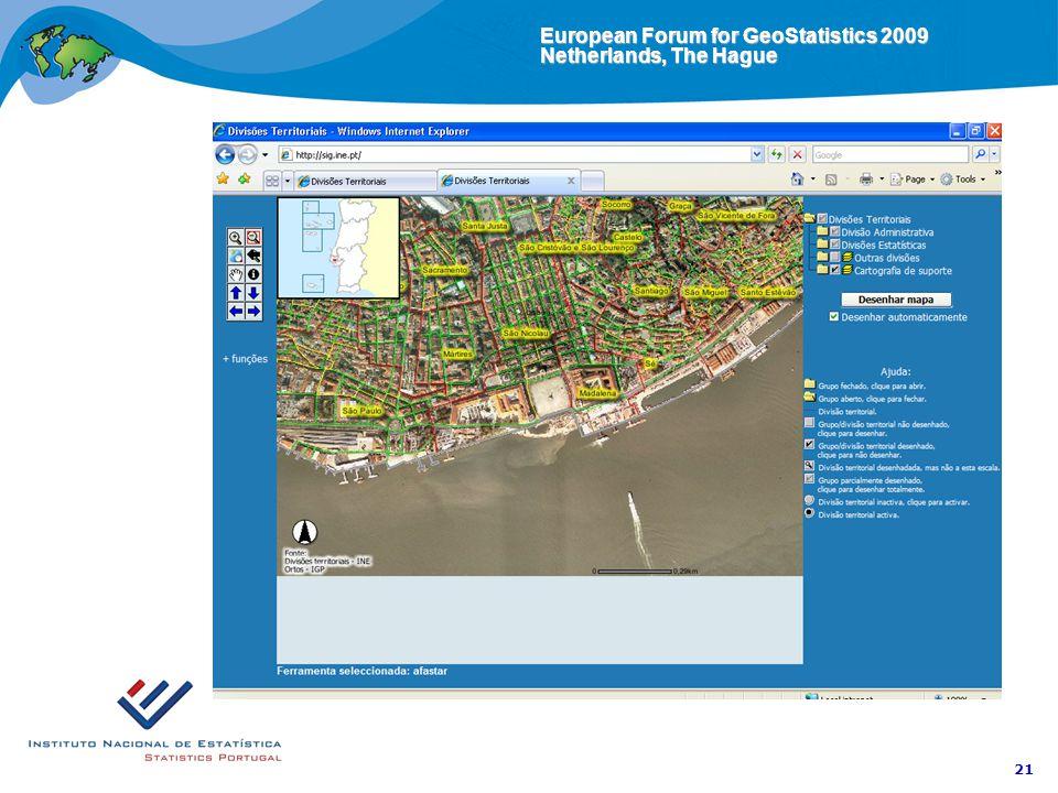 European Forum for GeoStatistics 2009 Netherlands, The Hague 21 Visualization page