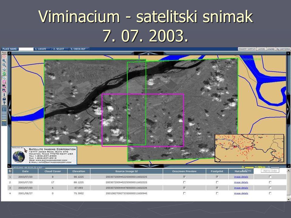 Viminacium - satelitski snimak 7. 07. 2003.
