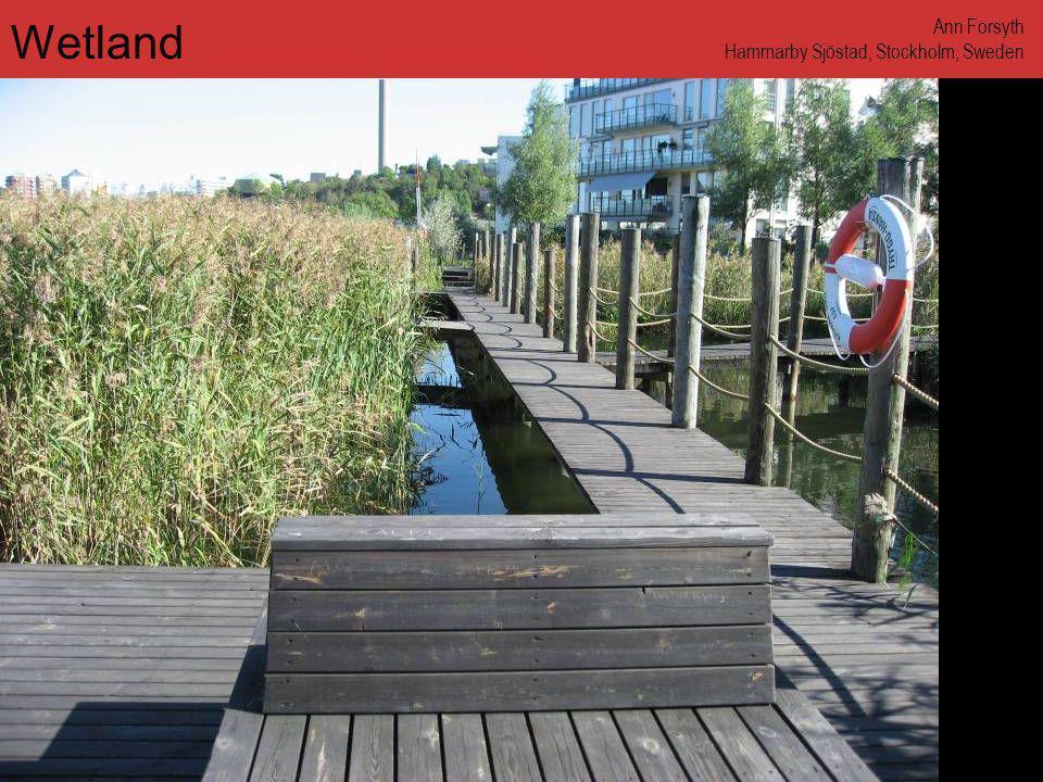 www.annforsyth.net Wetland Ann Forsyth Hammarby Sjöstad, Stockholm, Sweden