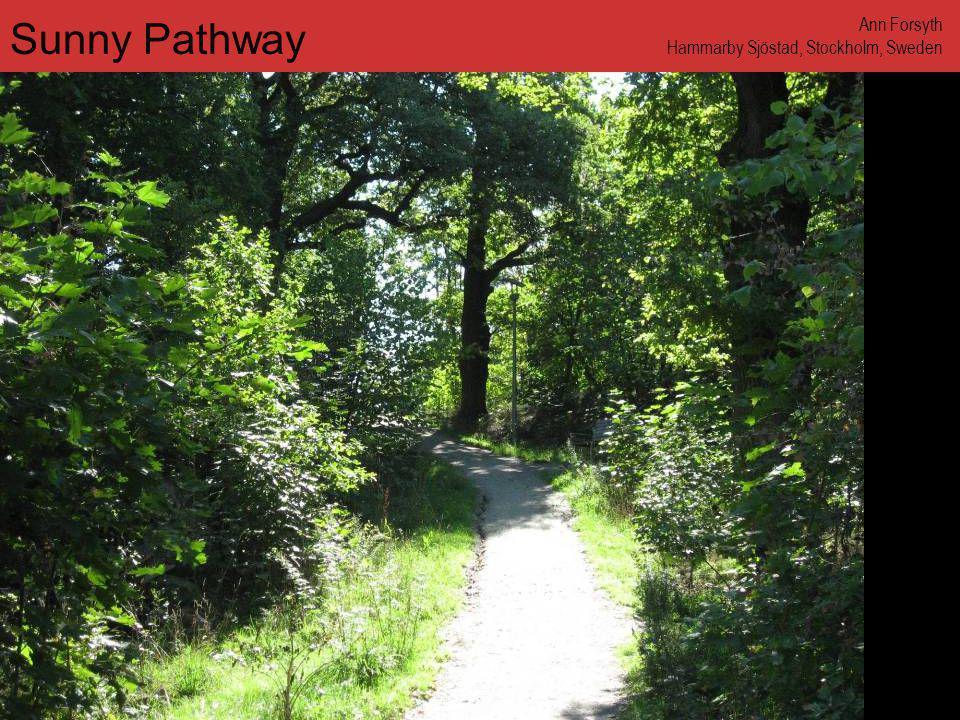 www.annforsyth.net Sunny Pathway Ann Forsyth Hammarby Sjöstad, Stockholm, Sweden