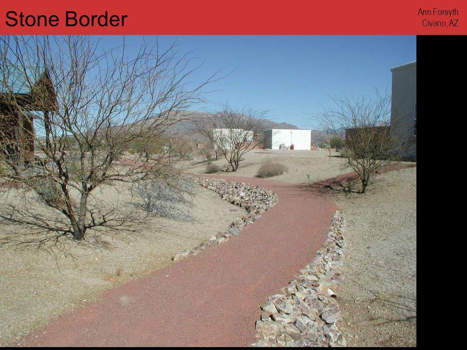 www.annforsyth.net Stone Border Ann Forsyth Civano, AZ