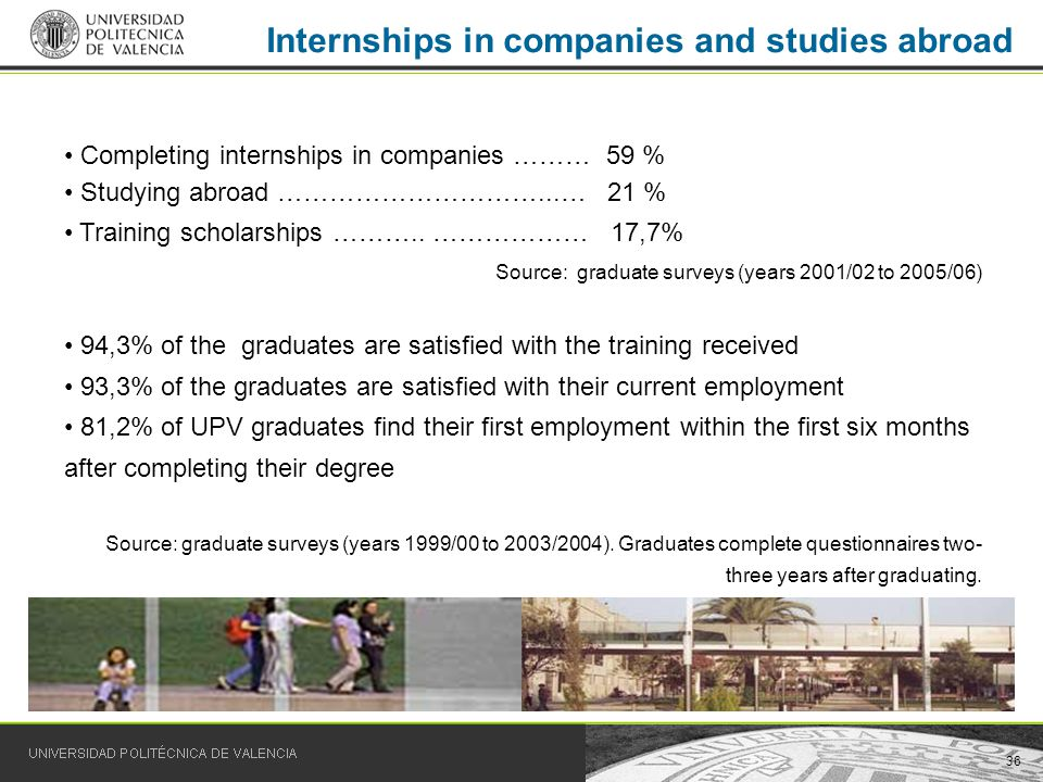 36 Internships in companies and studies abroad Completing internships in companies ……… 59 % Studying abroad …………………………...… 21 % Training scholarships ………..