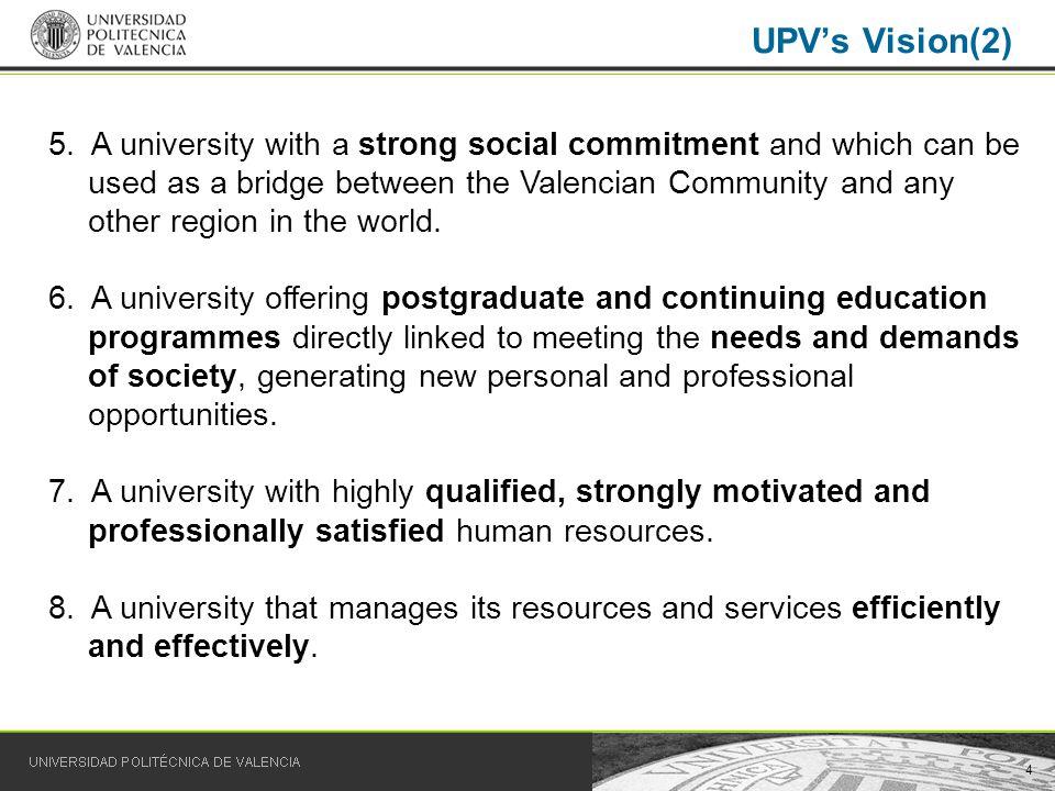5 Universidad Politécnica de Valencia We train people We train professionals Education for employment