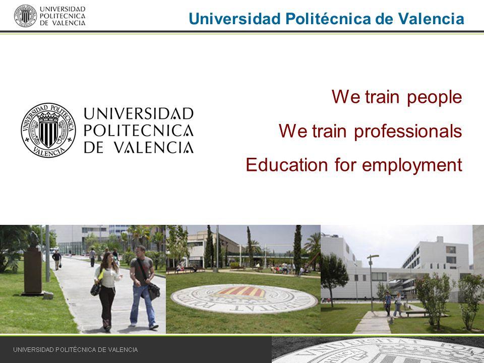 16 UPV degrees: Vera Campus site SCHOOL OF DESIGN ENGINEERING Technical Industrial Design Engineer Technical Industrial Engineer.