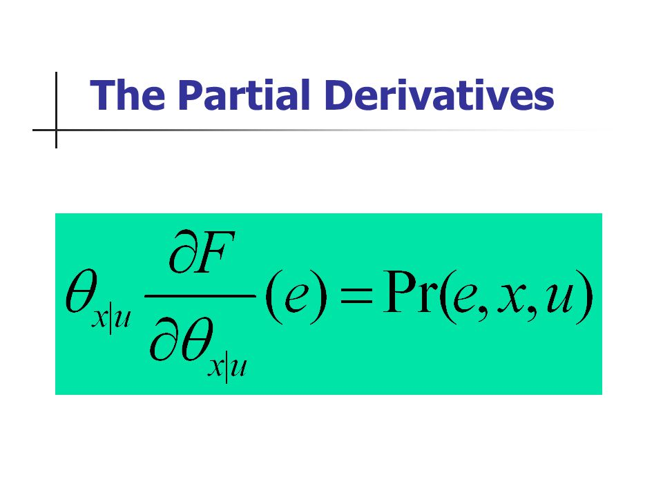The Partial Derivatives