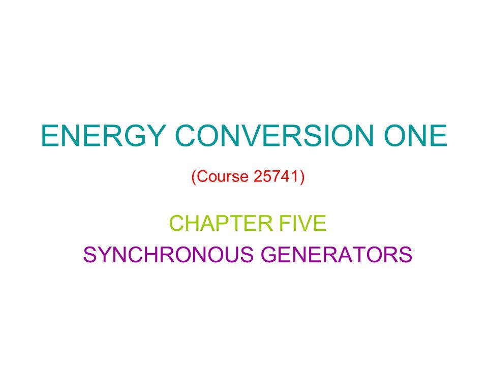 SYNCHRONOUS GENERATORS Summary 1.Synchronous Generator Construction 2.