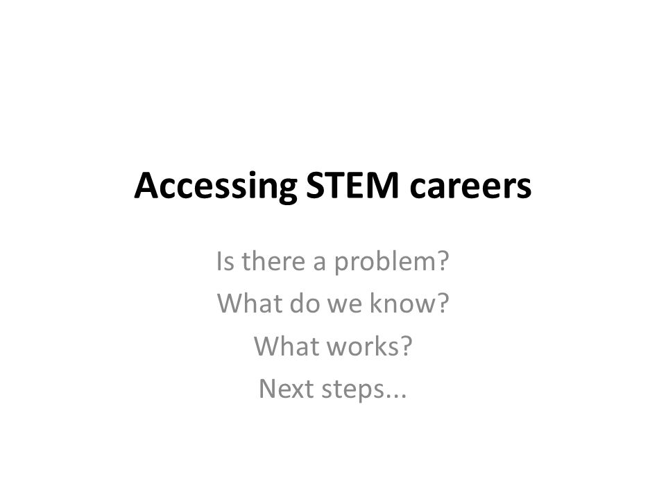 STEM careers IAG: Is there a problem?