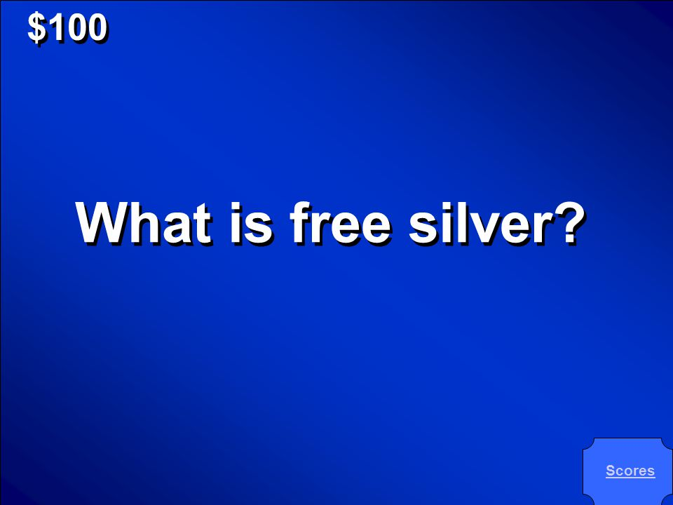 © Mark E. Damon - All Rights Reserved $100 What is free silver? What is free silver? Scores